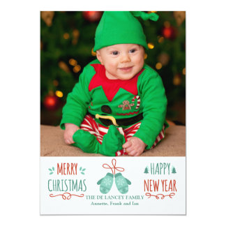 Christmas Mittens Holiday Photo Card