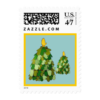 Christmas Mittens Postage Stamp
