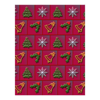Christmas mix pattern personalized flyer