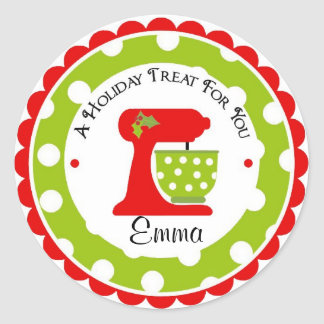 Christmas Mixing Bowl wit Polka Dots Sticker
