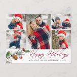 """Christmas Modern 5 PHOTO Collage Greeting Holiday Postcard<br><div class=""""desc"""">Christmas Modern 5 PHOTO Collage Greeting Holiday Postcard.</div>"""