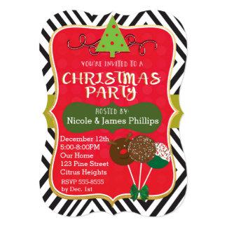 Christmas Modern Tree & Cake Pops Invitations