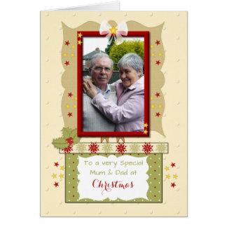 Christmas Mom and Dad photo Card