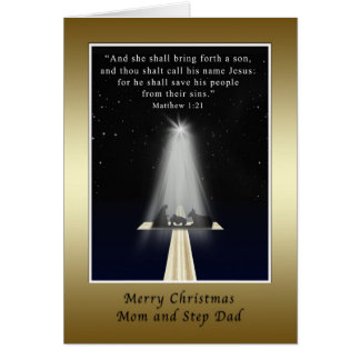 Christmas, Mom and Step Dad,  Religious Card