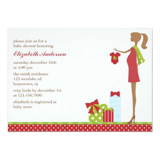 Christmas Mom To Be Baby Shower Invitations
