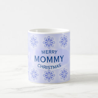Christmas Mommy Blue Snowflakes Mug by Janz