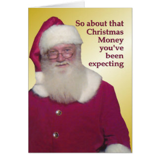 Christmas money NOT enclosed Card