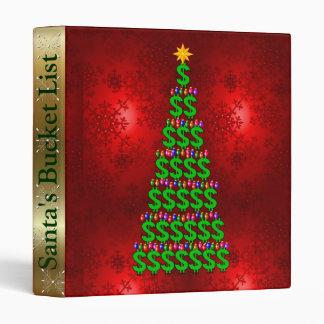 Christmas Money Tree 3 Ring Binder