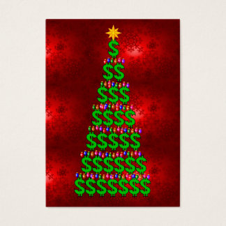 Christmas Money Tree Business Card