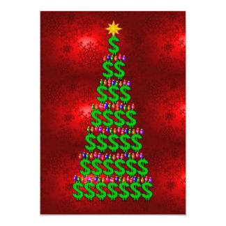 "Christmas Money Tree 5"" X 7"" Invitation Card"