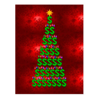 Christmas Money Tree Postcard