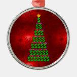Christmas Money Tree Round Metal Christmas Ornament