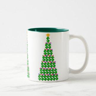 Christmas Money Tree Two-Tone Coffee Mug