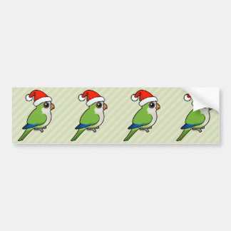 Christmas Monk Parakeet Bumper Sticker