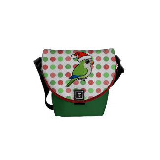 Christmas Monk Parakeet Courier Bags