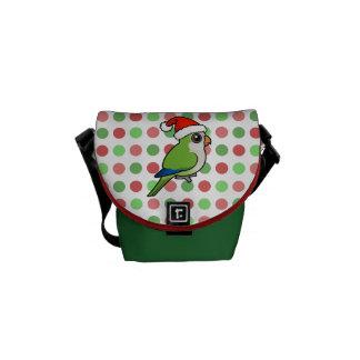 Christmas Monk Parakeet Messenger Bag