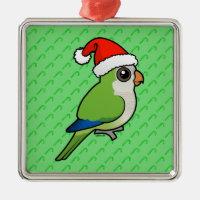 Monk Parakeet Christmas Premium Square Ornament