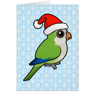 Christmas Monk Parakeet Stationery Note Card