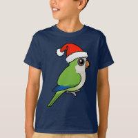 Monk Parakeet Christmas Kids' Hanes TAGLESS® T-Shirt