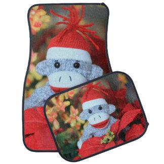 Christmas Monkey Car Floor Mat