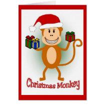 Christmas Monkey Card