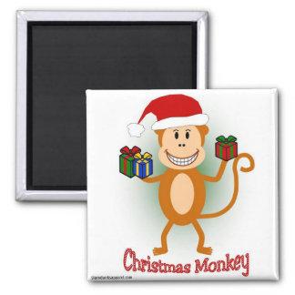 Christmas Monkey magnet