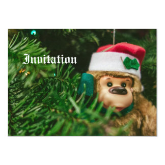 Christmas Monkey Photography Art Card