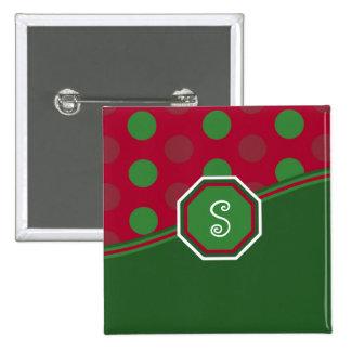Christmas Monogram Button