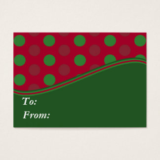 Christmas Monogram Gift Labels Business Card