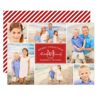 Christmas Monogram | Holiday Photo Collage Card