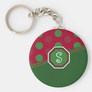 Christmas Monogram Key Chain