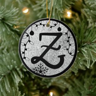 Monogram Letter Z Christmas Ornaments Zazzle 100 Satisfaction Guaranteed