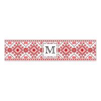 Christmas Monogram Napkin Ring Wrap