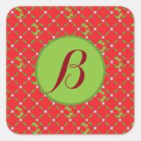 Christmas Monogram Stickers