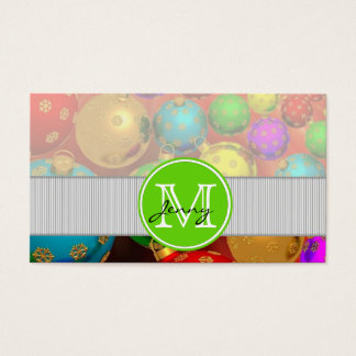 Christmas Monogrammed Business Card