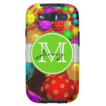 Christmas Monogrammed Galaxy S3 Case