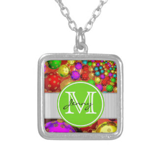 Christmas Monogrammed Necklace
