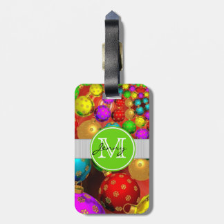 Christmas Monogrammed Tag For Luggage