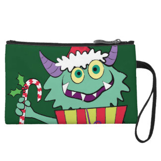 Christmas Monster with Gift Wristlet Clutches