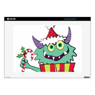 """Christmas Monster with Gift Decals For 15"""" Laptops"""