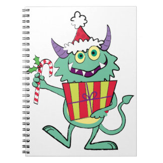 Christmas Monster with Gift Notebook