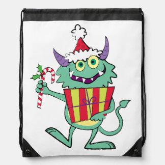Christmas Monster with Gift Cinch Bag