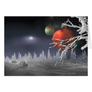 Christmas Moon Card