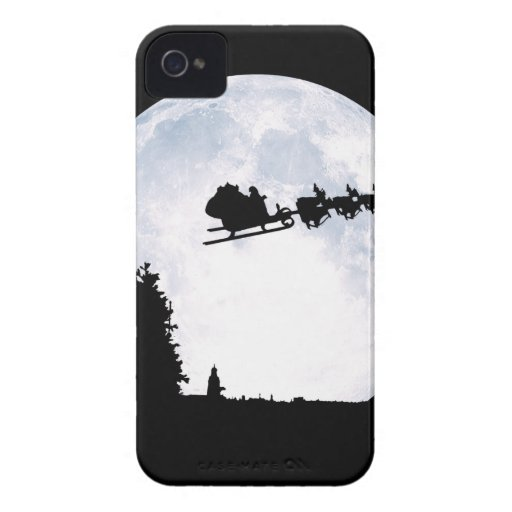 Christmas Moon Case-Mate iPhone 4 Cases