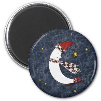 Christmas Moon on a Starry Night Magnet