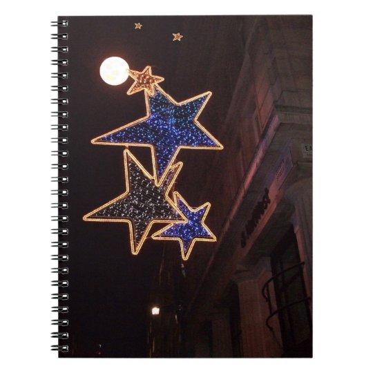 Christmas Moon & Stars Notebook