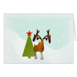 Christmas Moose Card