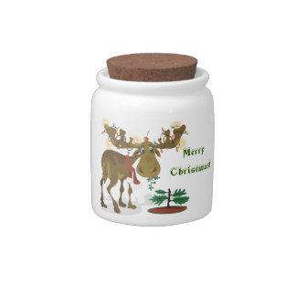 Christmas Moose~cookie jar Candy Jar