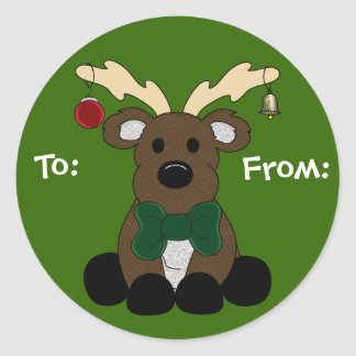 Christmas Moose Gift Tag
