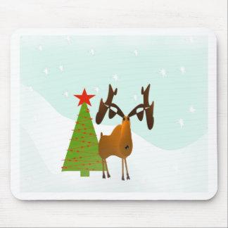 Christmas Moose Mouse Pad